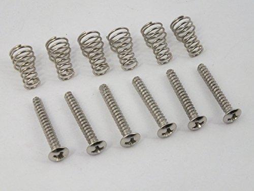 buy 6 pickup height adjustment screws springs for stratocaster guitars. Black Bedroom Furniture Sets. Home Design Ideas