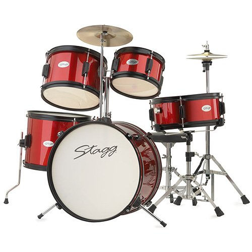 Buy Stagg Tim Jr 5 16 Rd 5 Piece Junior Drum Kit Red