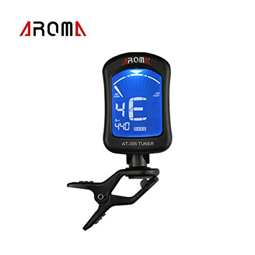 buy lesuzza tm portable clip on guitar tuner electric tuner universal for chromatic bass violin. Black Bedroom Furniture Sets. Home Design Ideas