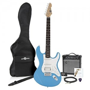 buy la ii electric guitar hss amp pack sky blue. Black Bedroom Furniture Sets. Home Design Ideas